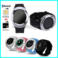 Wholesale bluetooth smart watch calling whatsapp online – Y1 Bluetooth Smart Watch Support SIM TF Card Whatsapp Facebook Fitness Clock Sync Notifier colors Smartwatch For Android IOS PK Q18 GT08