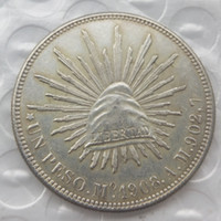 Wholesale Foreign Money - MO 1Uncirculated 1908 Mexico 1 Peso Silver Foreign Coin High Quality Brass Craft Ornaments