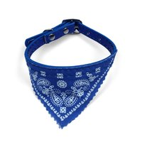 Wholesale small dog bandana collar online - New Small Adjustable Pet Dog Puppy Cat Neck Scarf Fashionable Scarf Bandana with Collar Neckerchief fashion accessory