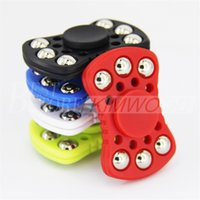 Wholesale Abs Steel - Newe Fidget Spinner EDC Fidget Cube Hand Spinners Six Steel Ball ABS Plastic Spinner Decompression Anxiety Finger Toys Free DHL