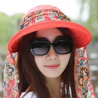 Hot Sale Mode Femme Lady Foldable Protection UV Neckguard Roll Up Hat Hat Sun Hat