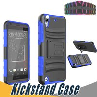 Wholesale One Sv - For HTC Desire 530 Kickstand Armor Case Rugged Protector Anti Slip TPU+PC For HTC Desire 650 555 520 626 Eye 510 610 One SV M7