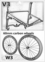 Wholesale carbon black packaging - With BB30 BB68 PF30 UD Vias carbon road bike frame+Handlebar+20.5mm A271 hub Roval 60mm carbon wheels packaged for sale free shipping