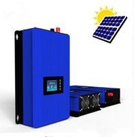 Wholesale Solar Power Grid Tied - 2000W Battery Discharge Power Mode MPPT Solar Power Grid Tie Inverter DC 22V-60V 45V-90V LCD with llimiter