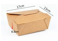 Wholesale 17cm cm Disposable Boxes Kraft Paper Box Take out Foldable boxes high quality packing boxes carton
