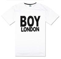 Wholesale Red Boy London - Hiphop men's clothing boy london t-shirt hiphop summer short sleeve plus size xxxl o-neck 100% cotton street dance