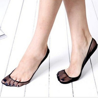 Wholesale Ankle Skid Socks - Wholesale- Wholesale 2 Pairs Women Thin Breathable Invisible Socks Anti skid Ankle Solid Boat Sock Slippers GR-107