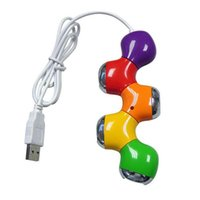 Wholesale Wholesale Tablet Sale China - Hot Sale Portable USB Hub High Speed 4 Port USB 2.0 Hub Cute Flower Splitter Adapter For Laptop Tablet Computer Peripherals Oc19