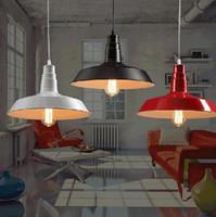 Wholesale antique art deco - Industrial LOFT Pendant Light Edison Bulb Chandelier Country Style Lighting Vintage Pendant Lamp Antique Iron Art Lamp 26cm 36cm 46cm