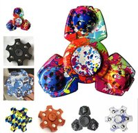 Wholesale Toys 34 - Newest Fidget Spinner EDC Hand Spinner ABS spinning top spiral fingers relief toys for adults HandSpinner 34 colors