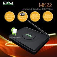Wholesale android pc smart tv box for sale - RKM MK22 Android TV Box Amlogic S912 Octa Core G G Mini PC Bluetooth Dual Wifi D K H M Gigabit LAN Smart Media Player