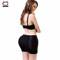 Wholesale Padded Shapewear Hips - Wholesale- Plus Size Butt Lift Padded Hip Shapewear Enhancer Butt Lifter with Tummy Control Panties Booty Slimmer Body Shaper Pelvis Briefs
