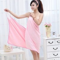 Wearable Absorbent Bath Towel Fast Dry Magic Women Beach Spa Купальные халаты Ванна Юбка Lady Wearable Drying Girl Dress Spa Sexy Microfiber