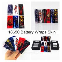 Wholesale Vapor Skins - New Game of Thrones Wonder Woman Spartacus Lich King Orcish 18650 Battery PVC Skin Sticker Vaper Wrapper Cover Sleeve Wrap Heat for Vapor