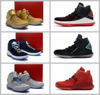 Wholesale Label For Fabric - 2017 Retro 32 Flights Speed Basketball Shoes for men High quality Airs XXXII 32s Hornets Black Crack Sports Sneakers Size 7-12