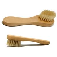 очищающая щетка для лица оптовых-Wholesale-Exfoliating Facial Brush Face Care Cleaning Wash Cap Soft Bristle Brush
