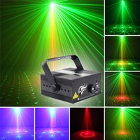 Wholesale Strobe 24 - 3 Lens 24 Patterns Club Bar RG Laser BLUE LED Stage Lighting DJ Home Party 300mw show Professional Projector Light Disco