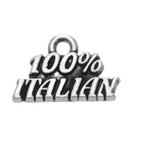 Wholesale Italian Style Necklaces - Hot sell style Nationality 100% ITALIAN Engraved Words Fashion Silver Plated Pendant For Bracelet & Necklace Jewelry
