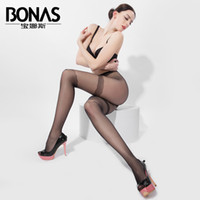 Wholesale Bonas Pantyhose - Wholesale- 2016 Spring Summer Brand BONAS Lady Long Stockings Retro Pantyhose Collant Femme Sexy Thin Transparent Jacquard Black Tights