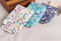 blumendruck leinwand brieftasche großhandel-Neue art floral print dame kurze größe brieftasche 19 * 14 cm tuch perle kette handytasche gedruckt leinwand geldbörse lqb-410