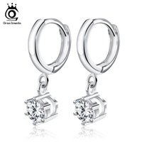 Wholesale Luxury Earings - Orsa Jewelry Silver Earings Fashion Jewelry,Luxury Austria Crystal & 3 Platinum Plated,Top Quality Earring Wholesale OE93