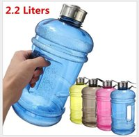 Wholesale Wholesale Sports Jugs - Outdoor Sports Portable Environmental Large 2.2 Litre Half Gallon Gym Workout Training convinients Fitness Water Jug Drink Bottle