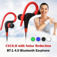 Wholesale Over Ear Headphones Yellow - BT-1 Earphone Bluetooth Sport Earhook Earbuds Stereo Over-Ear Wireless Neckband Headset Headphone with Mic for iphone 7 8 plus S8 note 8 DHL
