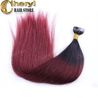 Wholesale Brazilian ombre tape hair extensions g each human hair weaving blonde hair extensions g one pack straight haigh quality on sale