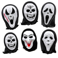 Wholesale Ghost Scream Mask - Halloween Mask Scary Ghost Mask Scream Costume Party Creepy Skull Scary Ghosts Masks Cosplay Costumes Prop 600pcs