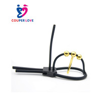 Wholesale electro sex catheter for sale - Group buy Electro Sex Cock Ring Urethral Sound Electro Shock Sex Toys Medical Electric Shock Accessory Silicone Penis Ring