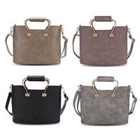 Wholesale Multi Handling Bag - Delicate Handle Tote Bag Casual Style PU Leather Tote Bag Solid Color Multi Purposes Ladies Patchwork Women Handbag