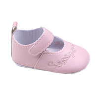 Wholesale Lovely Canvas Shoes - Wholesale- Newborn Baby Girl Shoes Prewalker First Walkers Lovely Sneakers Infant Kids Girls Princess Shoes