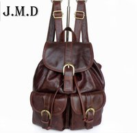 Wholesale Layer School Bags - Wholesale- Hot-selling women's Backpack the first layer of leather backpack women casual street sweet gentlewomen small bags school bag