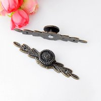 Wholesale Furniture Handle Leaves Carved Kitchen Cabinet Drawer Door Knobs Handle Bronze Tone x19mm J2830