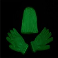 Wholesale Winter Hats Mittens - Fluorescent Gloves Hat Glowing In The Dark Magic Gloves (Green Color) Christmas Dancing Club Party Props YYA623