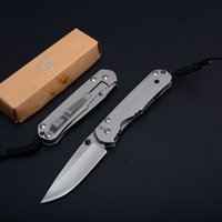 Wholesale Full Tactical - New Chris Reeve Sebenza 21 Tactical Folding Knife 440C Full Steel Satin Outdoor Camping Hunting Survival Pocket Knife Utility EDC Tools