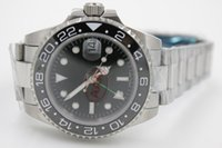 Wholesale Green Luxury Bezel Watch - luxury swiss brand ceramic GMT bezel original clasp men mechanical watches automatic date stainless mens sports 116710BKSO watches SB518