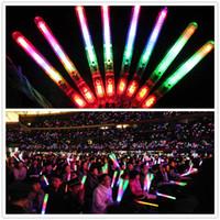 encantos de chupete de acrílico al por mayor-Multi colorido 3 modos LED parpadeante lámpara de luz nocturna Resplandor Varita Varitas + correa Cumpleaños Fiesta de Navidad festival Camp G082