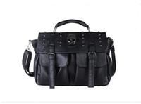Wholesale Black Punk Purses - women Bags Punk Skull Rivet Handbags Women's Handbags Cross Body Shoulder Bags Tote Messenger Women's Purse sac