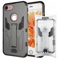 Wholesale Extra Slim Plus - Retail Package Extra Slim Cell Phone Cases hybrid iron man for iPhone 7 plus Mobile Phone Case for Samsung s7 with Kickstand