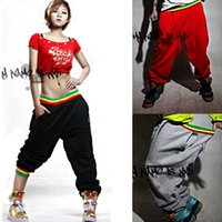 Wholesale Mens Dance Harem Sweatpants - 2017 Womens and Mens Unsex Casual Harem Jogging Pants Hip Hop Dance Sports Trousers Baggy Girls Ladies SweatPants Jogger Boys Slacks 0380