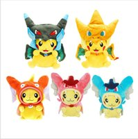 Wholesale Pp Cotton Stuffing - 20cm Kawaii Poke Pikachu Plush kids Toys Cosplay Mega Charizard PP Cotton Stuffed Animals Dolls Children Toys Christmas Gifts