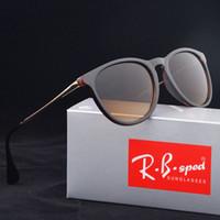 Wholesale cats summer - 2017 Summer Fashion Sunglasses Women men Brand Designer TR90 frame Cat Eye Sun glasses uv400 Goggles Oculos De Sol Feminino with brown Case