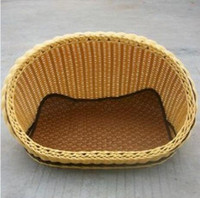 Wholesale Rattan Kennel Pet The Summer Cat Beds Supplies Breathable Four Seasons Common Cat Dog Nest Sleeping Beds