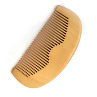 Wholesale Wooden Comb Hair Brush Peach Wood Handmade Fine Tooth Pocket Travel Hairbrush Men Facial Beard Grooming Tool Gift
