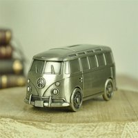 Wholesale City Bus Toy Car - Metal City Bus Car Money Box Coin Bank Save Money Container Toys Craft Decoration For Kids Children