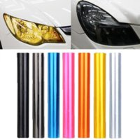 Wholesale Black Car Light Fog - 30cm x 120cm 7-Color Auto Car Tint Headlight Taillight Fog Light Vinyl Smoke Film Sheet Sticker Cover 12inch x 48inch