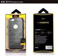 Wholesale Black Ribbon Ring - With Motomo Packing MOTOMO Fake metal ribbon ring sheath TPU+Metal 2 in 1 cell phone cases