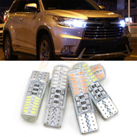 Wholesale Led Trunk - Car LED T10 W5W 12V Canbus Clearance Lights 194 168 Led Wedge Car Light Bulbs 4014 24SMD Colorful Trunk Lamp bulbs