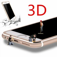 Wholesale Film Aluminum - 3D Edge Aluminum Alloy 9H Hardness Tempered Glass Full Screen Protector For Apple iPhone 6 6s 6Plus 7 7Plus Protective Film with retail box
